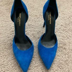 Electric Blue YSL Heels